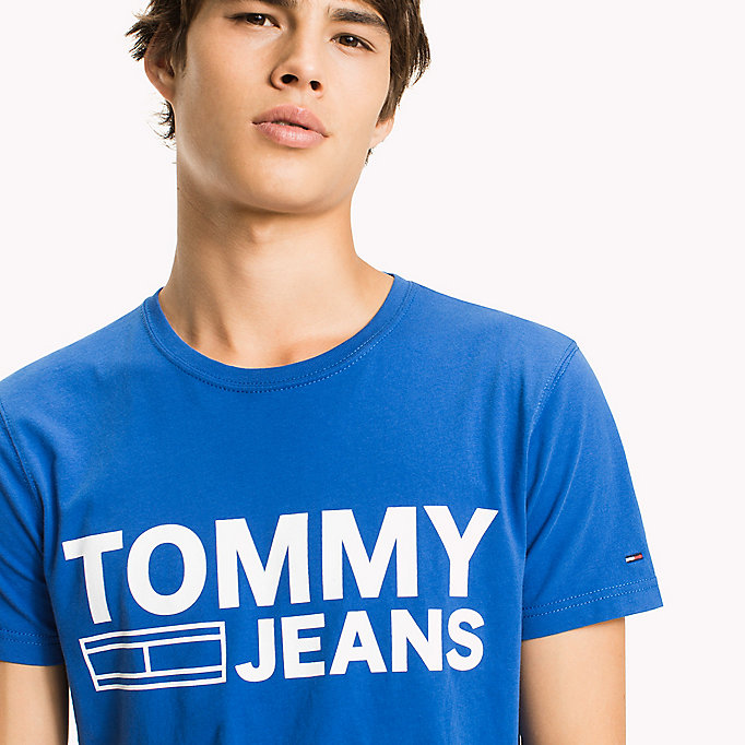 TOMMY JEANS Organic Cotton Jersey T-Shirt - RACING RED - TOMMY JEANS Men - detail image 2
