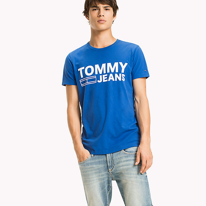 TOMMY JEANS Organic Cotton Jersey T-Shirt - RACING RED - TOMMY JEANS Men - main image