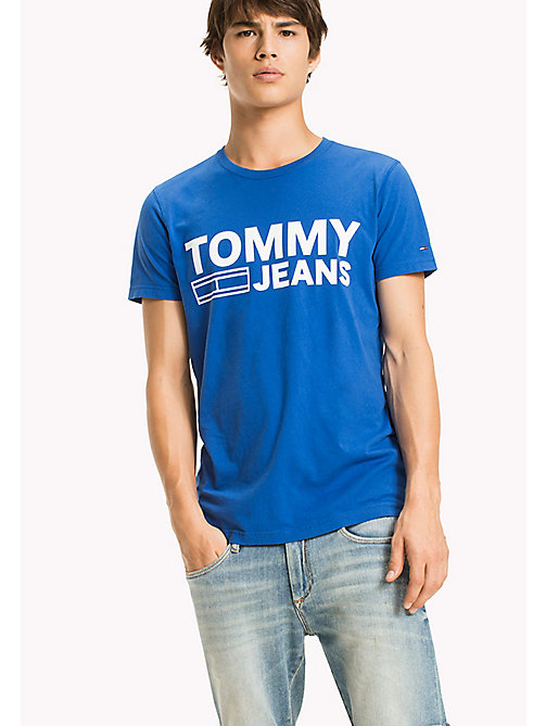 TOMMY JEANS Organic Cotton Jersey T-Shirt - NAUTICAL BLUE - TOMMY JEANS T-Shirts - main image