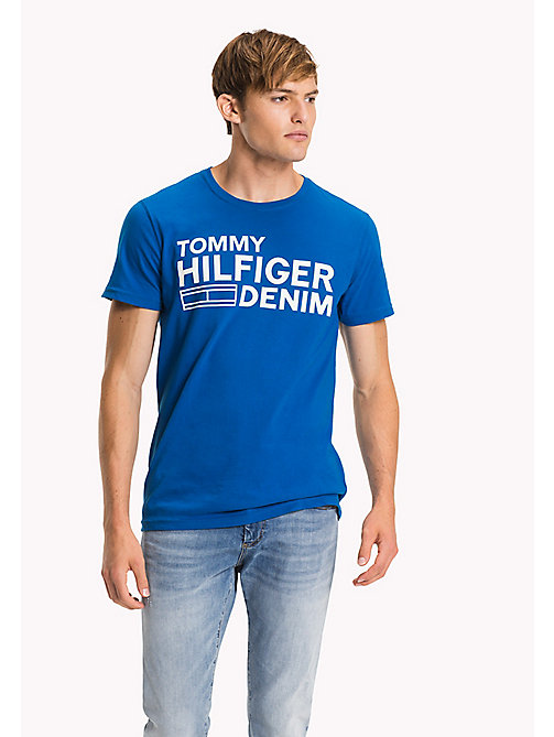 TOMMY JEANS Organic Cotton Jersey T-Shirt - SKYDIVER - TOMMY JEANS T-Shirts - main image