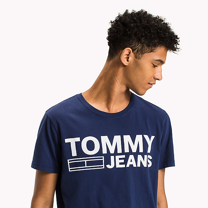 TOMMY JEANS Organic Cotton Jersey T-Shirt - JELLY BEAN - TOMMY JEANS Men - detail image 2