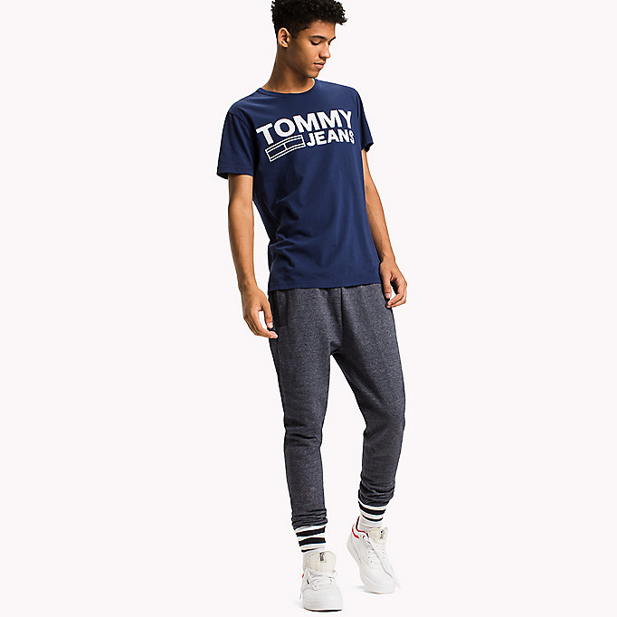 TOMMY JEANS Organic Cotton Jersey T-Shirt - JELLY BEAN - TOMMY JEANS Men - main image