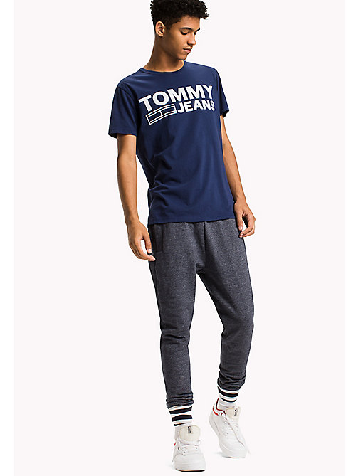 TOMMY JEANS T-shirt in jersey di cotone biologico - BLUE DEPTHS - TOMMY JEANS T-Shirts - immagine principale