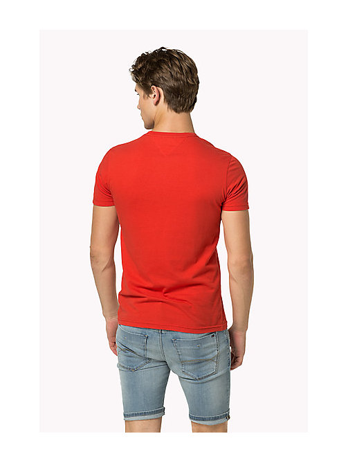 TOMMY JEANS Organic Cotton Jersey T-Shirt - HIGH RISK RED - TOMMY JEANS T-Shirts - detail image 1