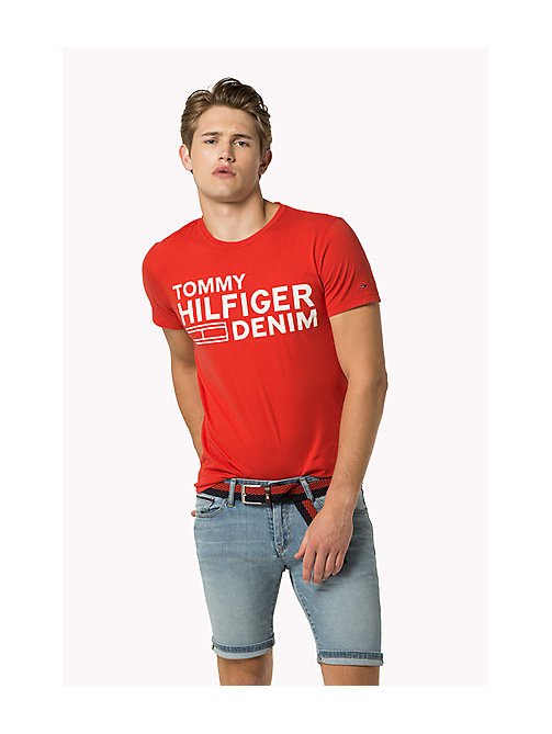 TOMMY JEANS Organic Cotton Jersey T-Shirt - HIGH RISK RED - TOMMY JEANS T-Shirts - main image
