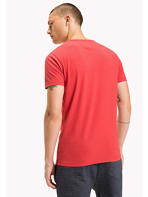 TOMMY JEANS Organic Cotton Jersey T-Shirt - RACING RED - TOMMY JEANS T-Shirts - detail image 1