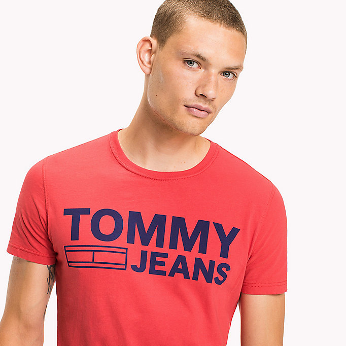 TOMMY JEANS Organic Cotton Jersey T-Shirt - BLUE DEPTHS - TOMMY JEANS Men - detail image 2