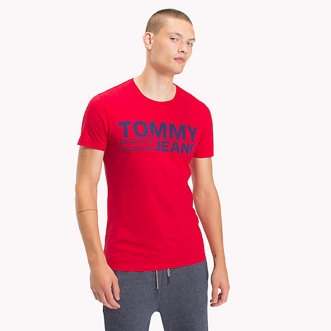 TOMMY JEANS Organic Cotton Jersey T-Shirt - BLUE DEPTHS - TOMMY JEANS Men - main image