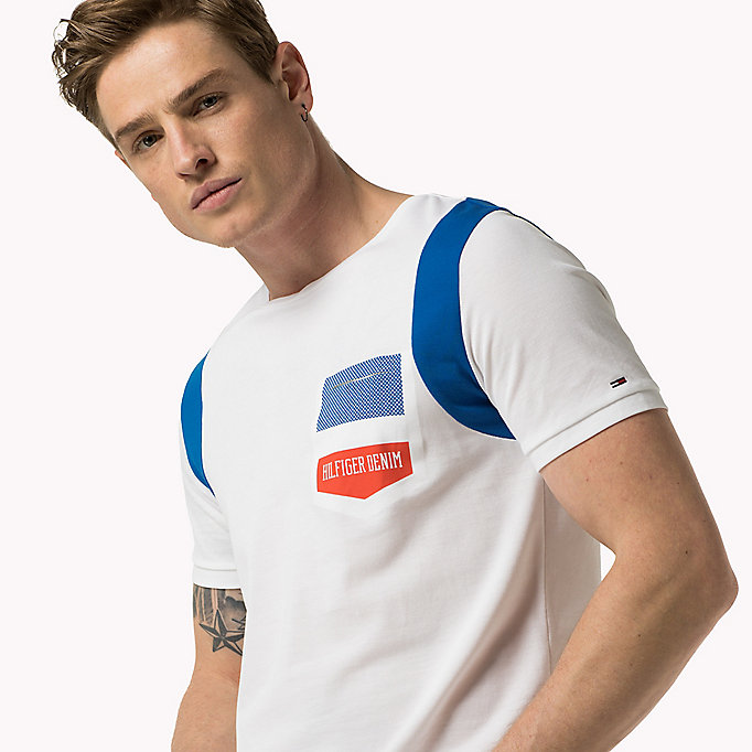TOMMY JEANS Cotton Piqué T-Shirt - SKYDIVER - TOMMY JEANS Clothing - detail image 2
