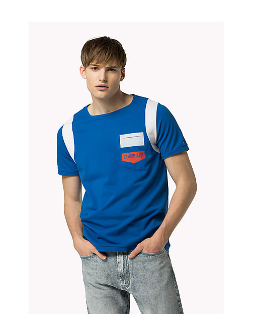 TOMMY JEANS Cotton Piqué T-Shirt - SKYDIVER - TOMMY JEANS Clothing - main image