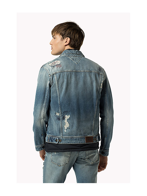 TOMMY JEANS Destructed Denim Trucker Jacket - LIGHT REPAIRED RIGID - TOMMY JEANS Coats & Jackets - detail image 1