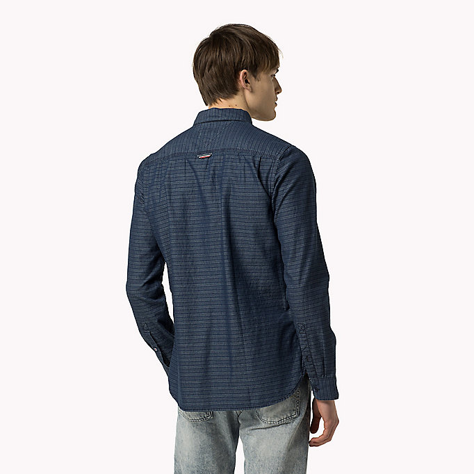 TOMMY JEANS Indigo Dobby Regular Fit Shirt - LIGHT INDIGO - TOMMY JEANS Clothing - detail image 2