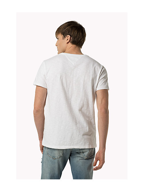 TOMMY JEANS Slub Cotton T-Shirt - CLASSIC WHITE - TOMMY JEANS Clothing - detail image 1