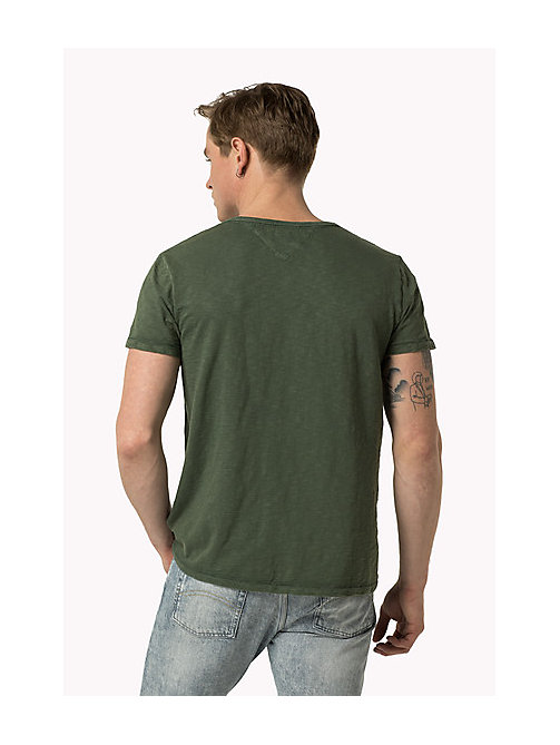 TOMMY JEANS Slub Cotton T-Shirt - FOUR LEAF CLOVER - TOMMY JEANS Clothing - detail image 1