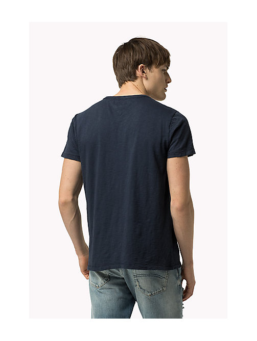 TOMMY JEANS Slub Cotton T-Shirt - VULCAN - TOMMY JEANS Clothing - detail image 1