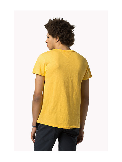TOMMY JEANS Slub Cotton T-Shirt - MIMOSA - TOMMY JEANS Clothing - detail image 1