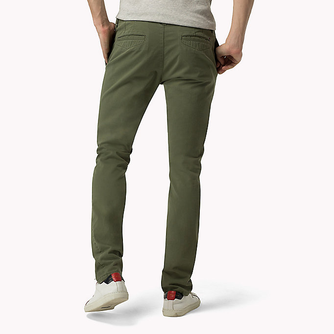 TOMMY JEANS Slim Fit Chinos - GRISAILLE - TOMMY JEANS Clothing - detail image 1