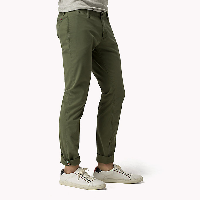 TOMMY JEANS Slim Fit Chinos - GRISAILLE - TOMMY JEANS Clothing - detail image 2