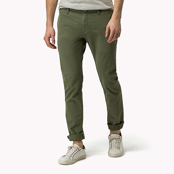 TOMMY JEANS Slim Fit Chinos - GRISAILLE - TOMMY JEANS Clothing - main image