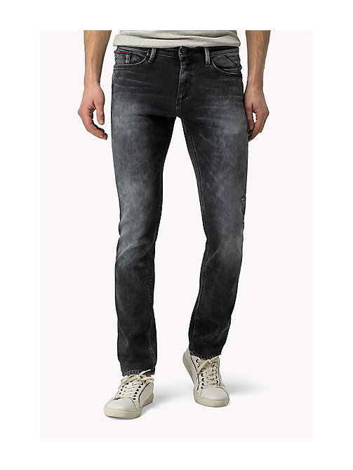 TOMMY JEANS Scanton Slim Fit Jeans - DYNAMIC X WORN GREY DESTRUCTED STRETCH - TOMMY JEANS Jeans - main image