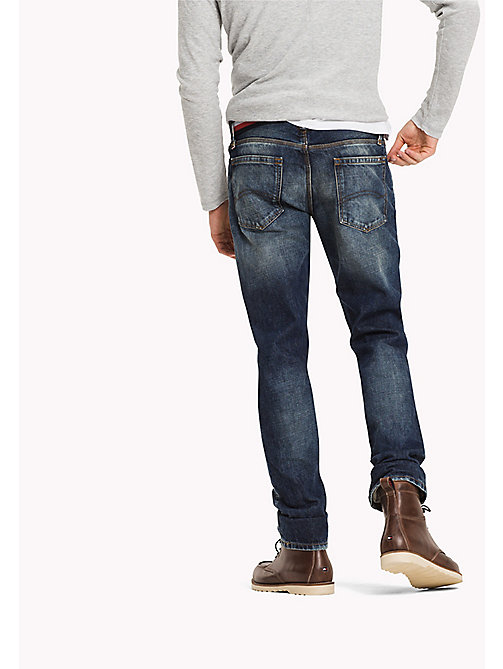 TOMMY JEANS Straight Fit Jeans - MONTAUK DARK RIGID DESTRUCTED - TOMMY JEANS Jeans - detail image 1