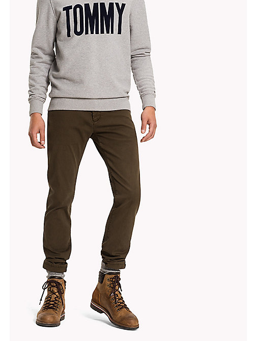 TOMMY JEANS Slim Fit Hose aus Baumwolle - FOREST NIGHT - TOMMY JEANS Hosen - main image
