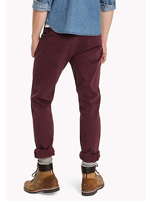 TOMMY JEANS Slim Fit Hose aus Baumwolle - WINDSOR WINE - TOMMY JEANS Hosen - main image 1