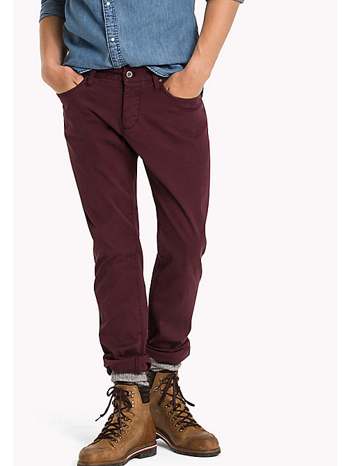 TOMMY JEANS Slim Fit Hose aus Baumwolle - WINDSOR WINE - TOMMY JEANS Hosen - main image