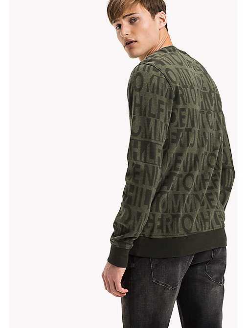 TOMMY JEANS Jacquard sweatshirt - FOREST NIGHT / FOUR LEAF CLOVER - TOMMY JEANS Truien & Vesten - detail image 1