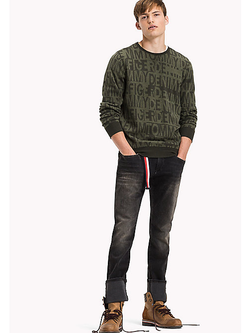 TOMMY JEANS Jacquard sweatshirt - FOREST NIGHT / FOUR LEAF CLOVER - TOMMY JEANS Truien & Vesten - main image