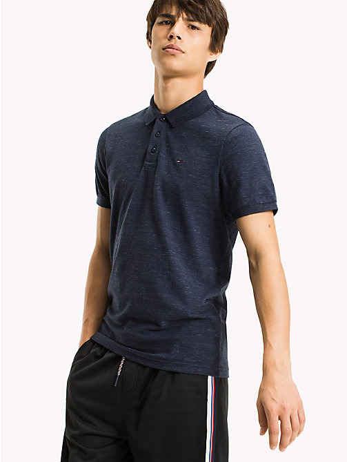 TOMMY JEANS Fitted Polo Shirt - BLACK IRIS - TOMMY JEANS Clothing - main image