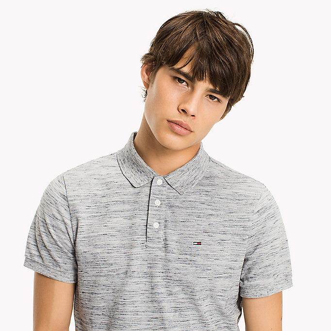 TOMMY JEANS Fitted Polo Shirt - TRUE NAVY - TOMMY JEANS Clothing - detail image 2
