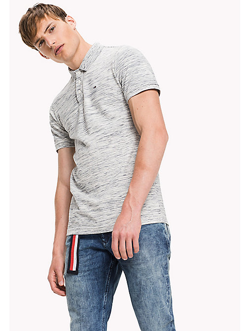 TOMMY JEANS Fitted Polo Shirt - MARSHMALLOW - TOMMY JEANS MEN - main image