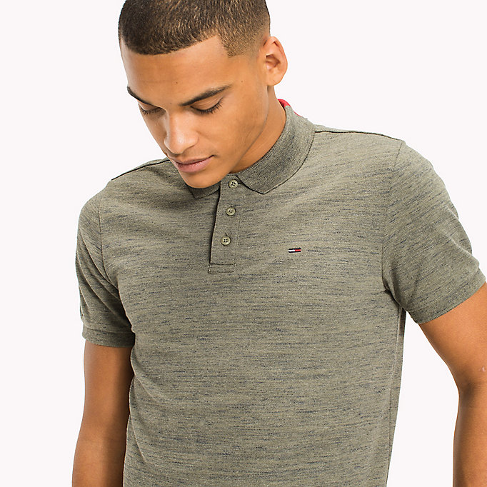TOMMY JEANS Fitted Polo Shirt - MARSHMALLOW - TOMMY JEANS Clothing - detail image 2