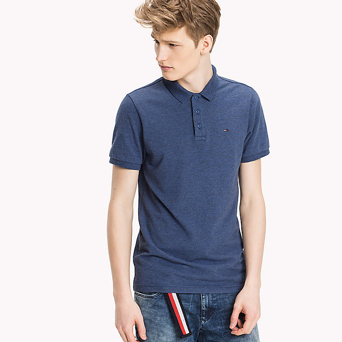 TOMMY JEANS Fitted Polo Shirt - DEEP LICHEN - TOMMY JEANS Clothing - main image