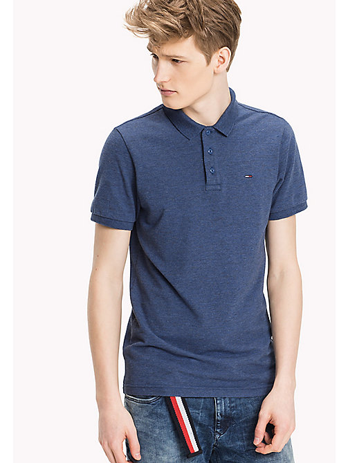 TOMMY JEANS Fitted Polo Shirt - TRUE NAVY - TOMMY JEANS HERREN - main image