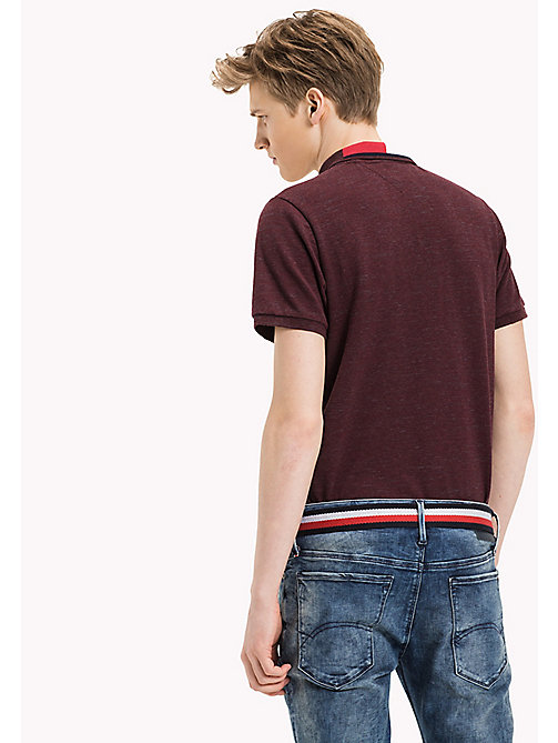 TOMMY JEANS Fitted Polo Shirt - WINDSOR WINE - TOMMY JEANS MEN - detail image 1