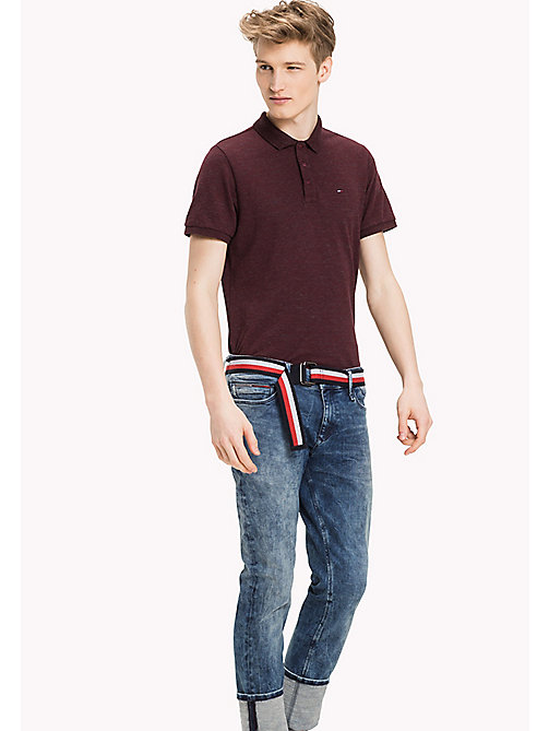 TOMMY JEANS Fitted Polo Shirt - WINDSOR WINE - TOMMY JEANS MEN - main image