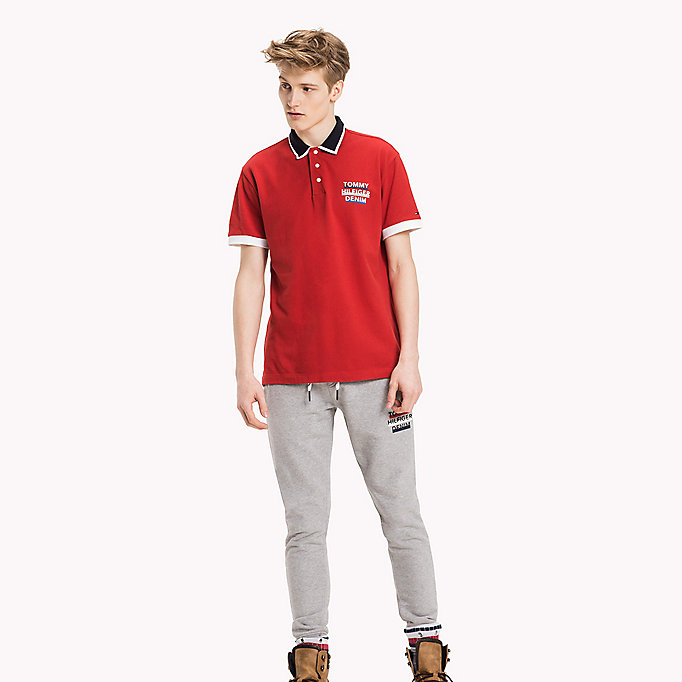 TOMMY JEANS Regular Fit Piqué-Poloshirt - CLASSIC WHITE - TOMMY JEANS Kleidung - main image