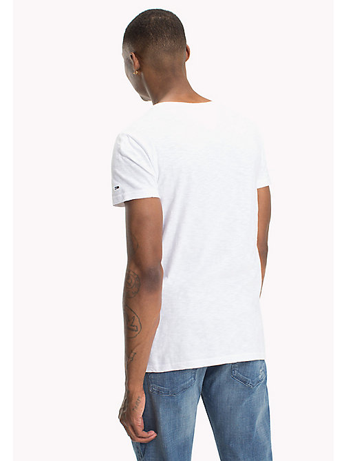 TOMMY JEANS Cotton Slub Jersey Crew Neck T-Shirt - CLASSIC WHITE - TOMMY JEANS T-Shirts - detail image 1