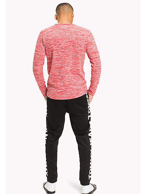 TOMMY JEANS T-shirt a maniche lunghe in jersey di cotone - RACING RED - TOMMY JEANS UOMINI - dettaglio immagine 1