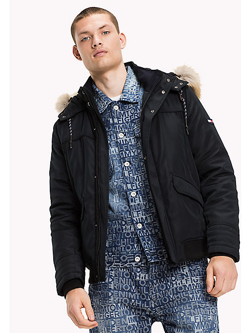 TOMMY JEANS Duurzaam polyester bomber - TOMMY BLACK - TOMMY JEANS Jassen & Jacks - main image