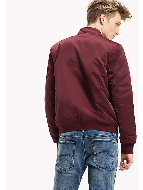 TOMMY JEANS Satin Regular Bomber - WINDSOR WINE - TOMMY JEANS Coats & Jackets - detail image 1