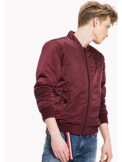 TOMMY JEANS Satin Regular Bomber - WINDSOR WINE - TOMMY JEANS Coats & Jackets - main image