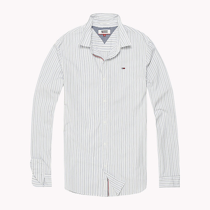TOMMY JEANS Poplin Stripe Shirt - BLACK IRIS - TOMMY JEANS Men - detail image 1