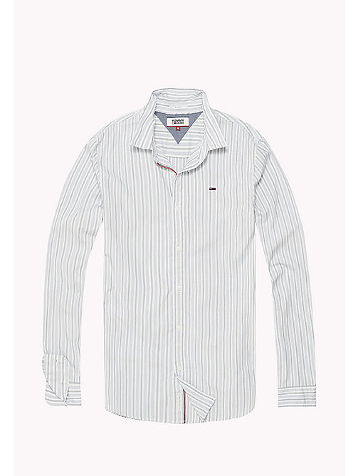TOMMY JEANS Poplin Stripe Shirt - CLASSIC WHITE - TOMMY JEANS Shirts - detail image 1