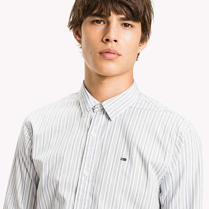 TOMMY JEANS Poplin Stripe Shirt - BLACK IRIS - TOMMY JEANS Men - detail image 3