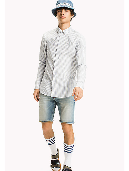 TOMMY JEANS Poplin Stripe Shirt - CLASSIC WHITE - TOMMY JEANS MEN - main image