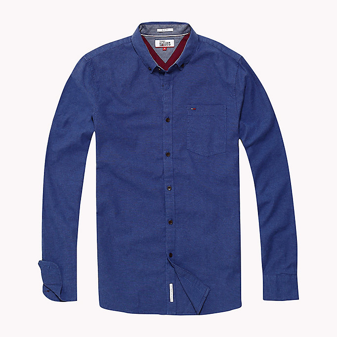 TOMMY JEANS Oxford Cotton Slim Fit Shirt - WINDSOR WINE - TOMMY JEANS Clothing - detail image 1