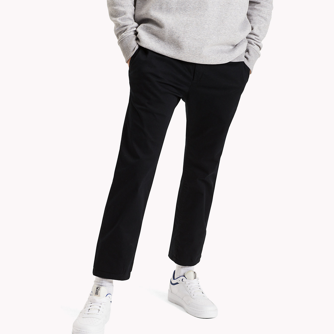 Cotton Stretch Slim Fit Trousers